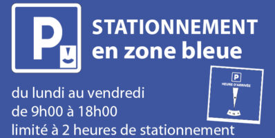 Stationnement en zone bleue
