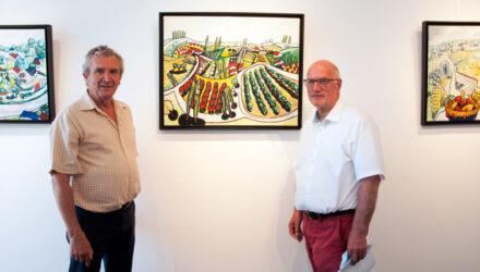 Galerie municipale Bernard Nonnet, René-Claude MIGAUD et Henri LABBÉ, Maire d'Erquy
