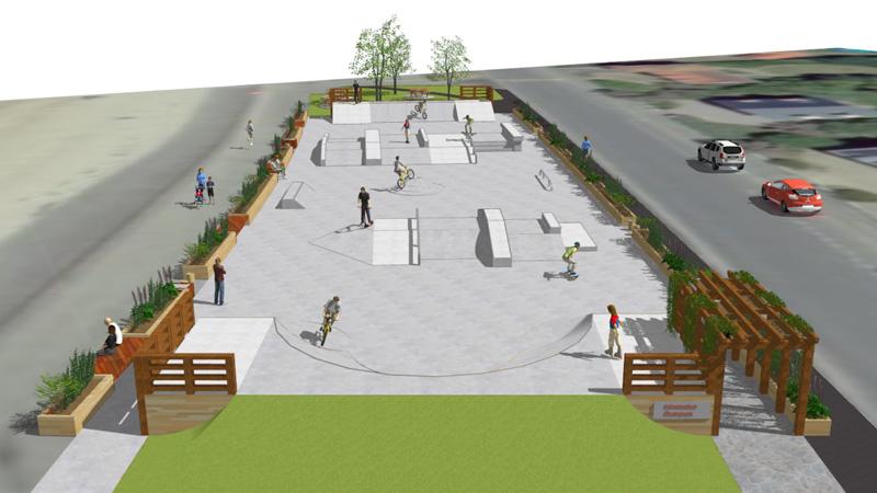 Erquy, projet de street park © Urban Sport Engineering