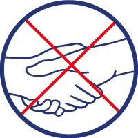 Saluer sans serrer la main et arrêter les embrassades