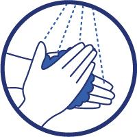 Se laver régulièrement les mains ou utiliser une solution hydro-alcoolique