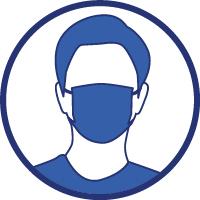 Porter un masque quand la distance d'un mètre ne peut pas être respectée et partout où cela est obligatoire